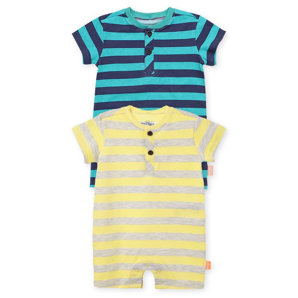 16e490ef4464f Baby Boy Rompers Newborn One Piece Outfit 2Pack - OFFCORSS USA