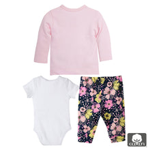 Baby Girl Bodysuit Long Sleeve Shirt and Pants Set