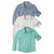 Toddler Boy Solid Color Long Sleeve Shirts 3Pack