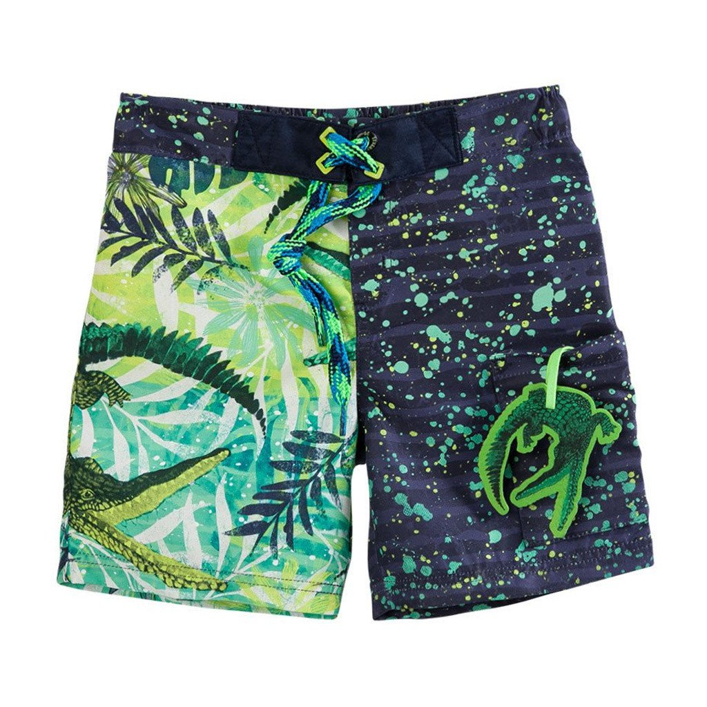 a0d6a7c142 OFFCORSS | Alligator Green Toddler Boy Swim Trunks