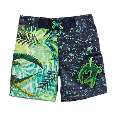OFFCORSS | Alligator Green Toddler Boy Swim Trunks