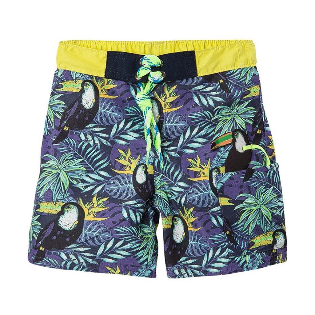 9121656aae OFFCORSS | Toucan Yellow Toddler Boy Swim Trunks