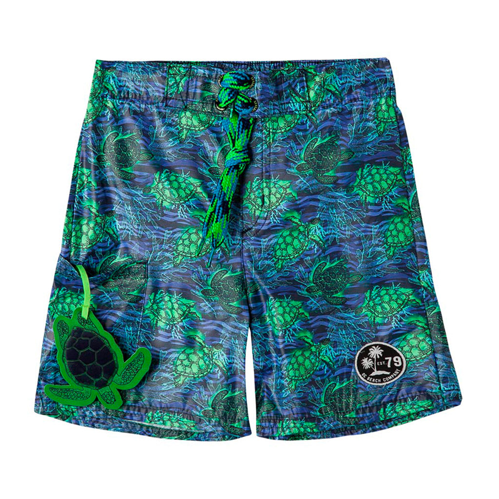 b71dcd373d OFFCORSS | Sea Turtles Blue Toddler Boy Swim Shorts