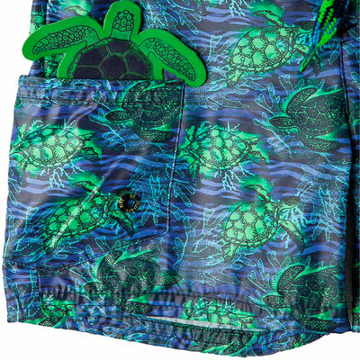 d9b2333426 ... OFFCORSS | Sea Turtles Blue Toddler Boy Swim Shorts ...