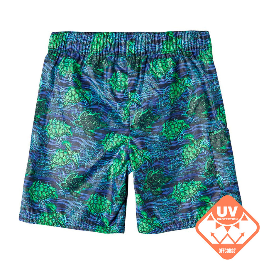 OFFCORSS | Sea Turtles Blue Toddler Boy Swim Shorts