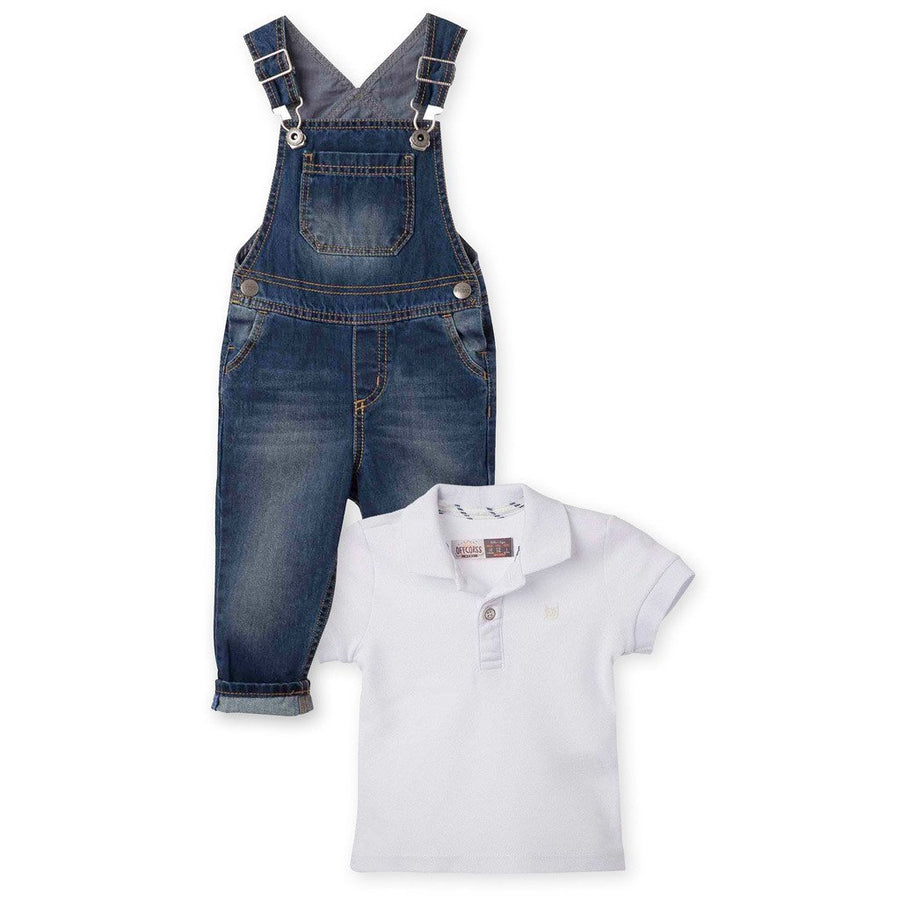 Overall Pique Polo Shirt Outfit