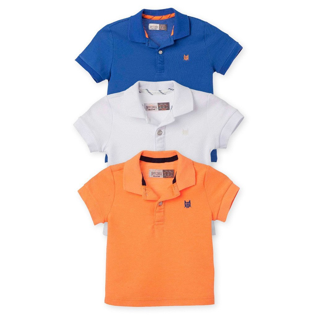 479d12af Polo Shirt Plain Color Clothing 3 Pack. OFFCORSS Polo Shirt for Boys Toddler  ...