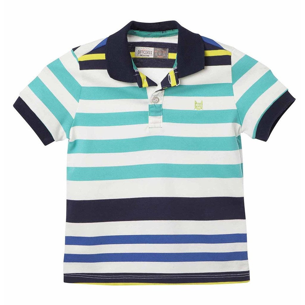 85cdca43 Toddler Boy Colorful Striped Polo Shirts - OFFCORSS USA