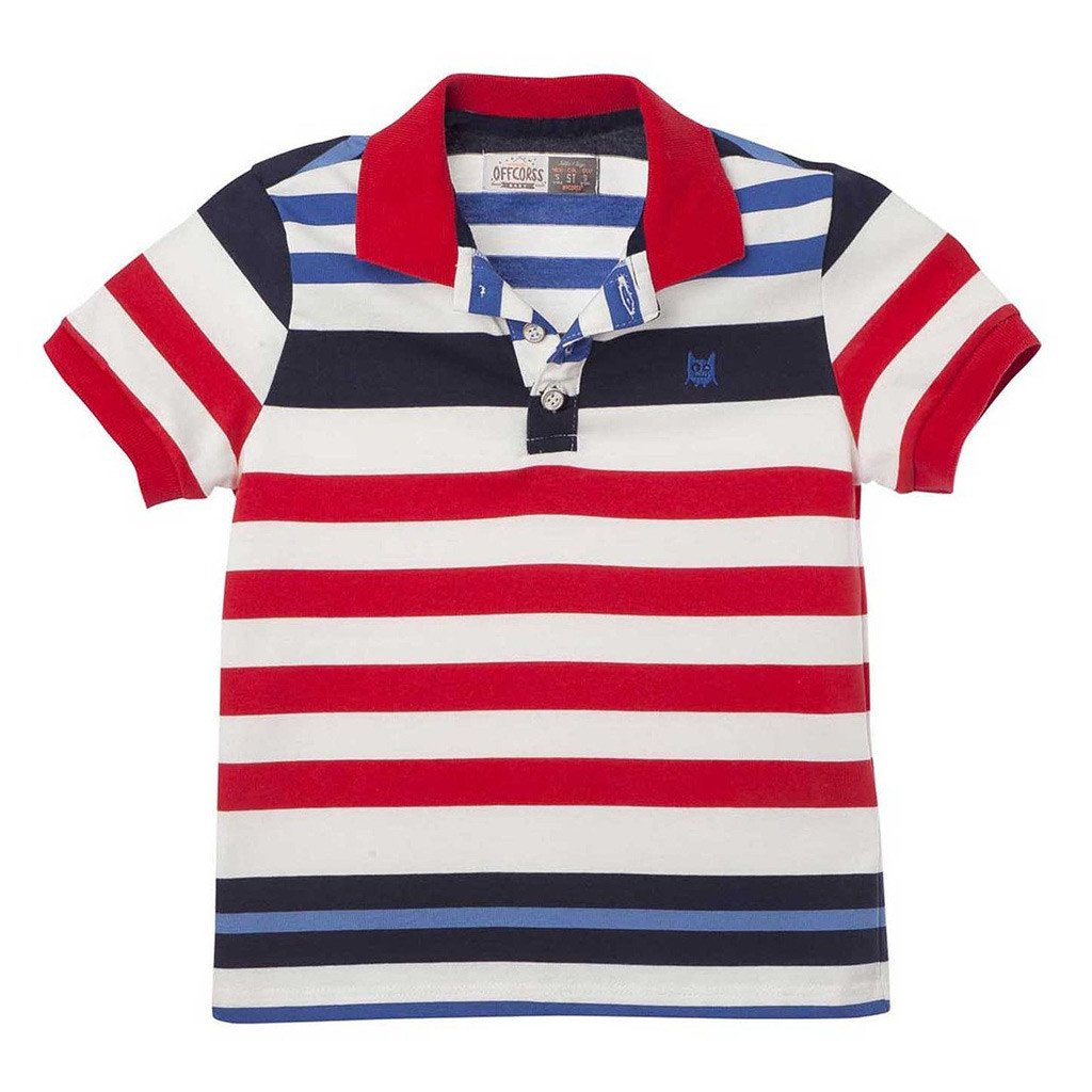Toddler Boy Colorful Striped Polo Shirts Offcorss Usa