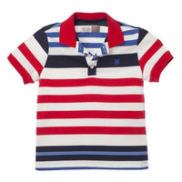 OFFCORSS Toddler Boy Colorful Striped Polo Shirts 12m 18m 2T 3T, Cotton