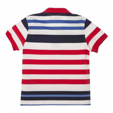 Toddler Boy Colorful Striped Polo Shirts