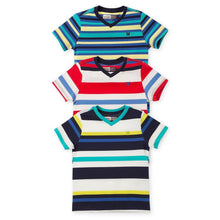 Striped T Shirt V Neck for Boys 3Pack