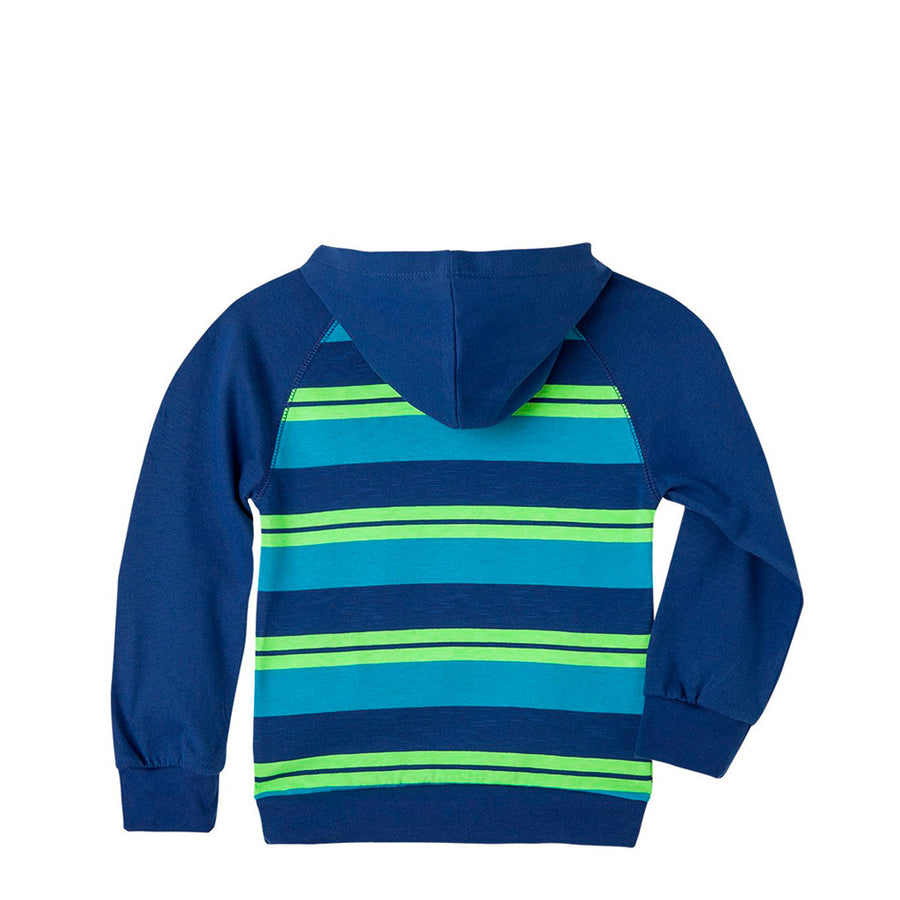 OFFCORSS | Blue Striped Toddler Pullover Hooded Sweatshirt