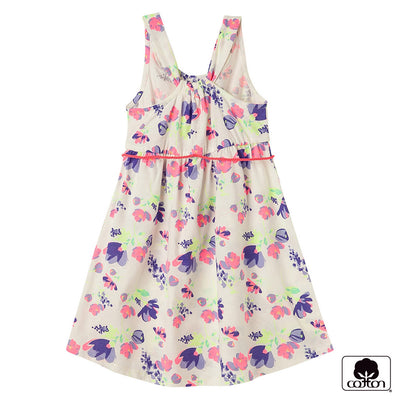 OFFCORSS Floral Girl Sleeveless Toddler Dress with Belt