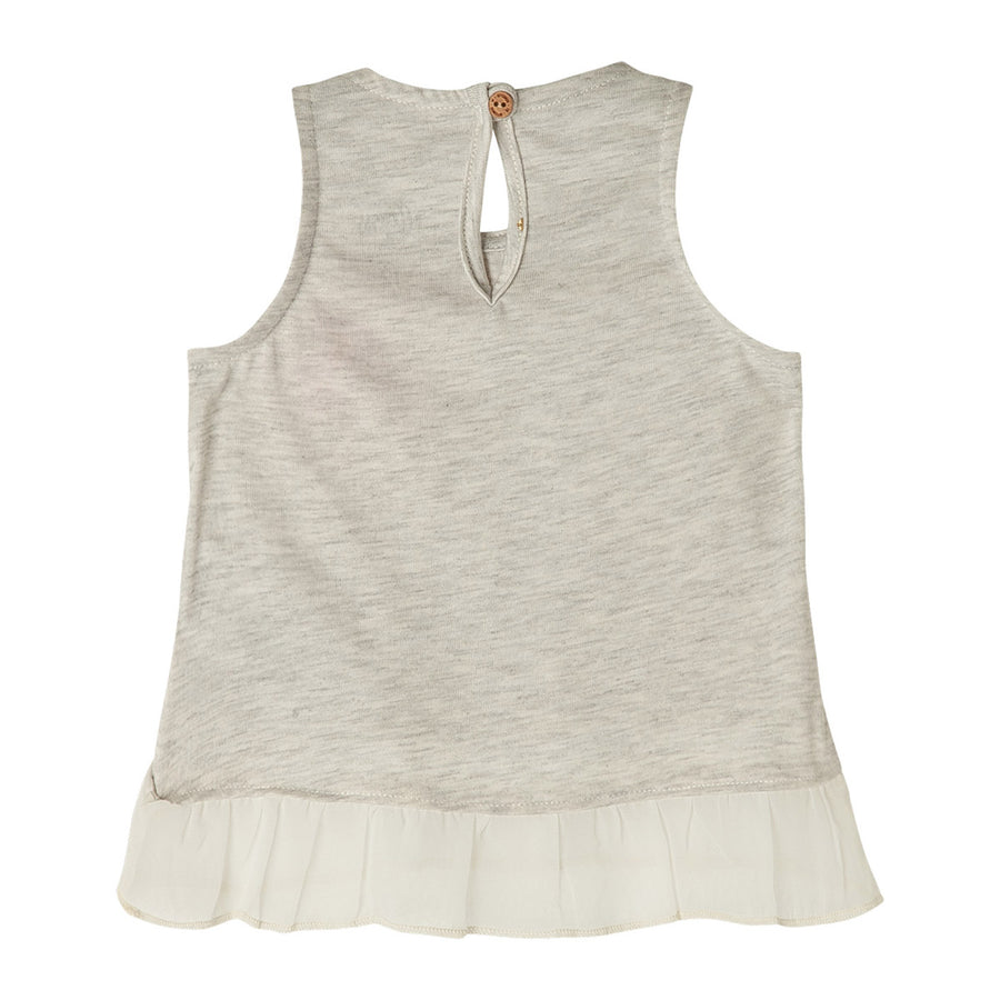 Sleeveless Ruffle Shirts for Toddler Girl