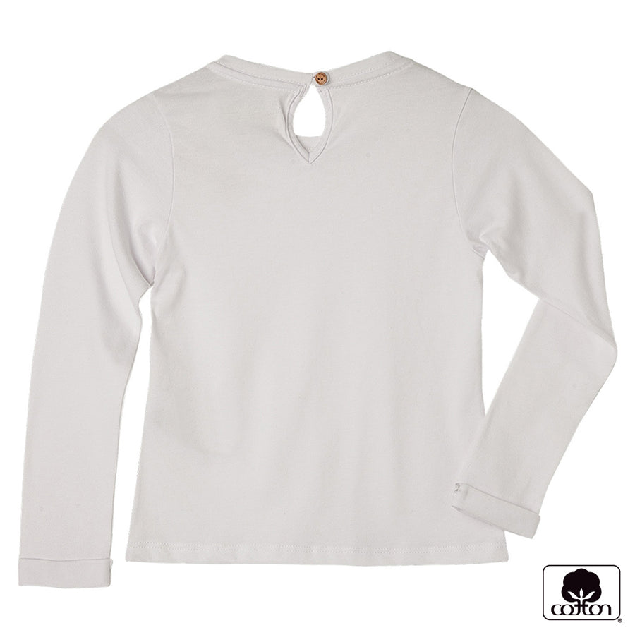 Tee Shirt Long Sleeve Solid Color