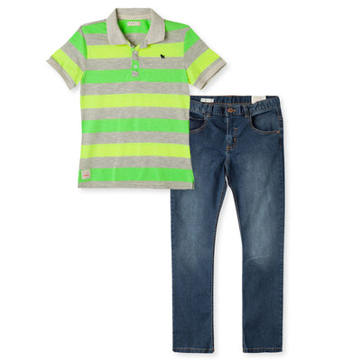 Polo Shirts Jeans Set For  Boys