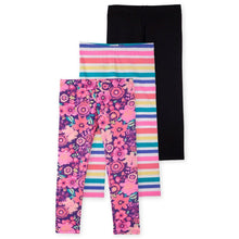 Printed Colorful Girls Leggings 3Pack