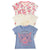 Girls Printed Tee Shirt 3 Pack