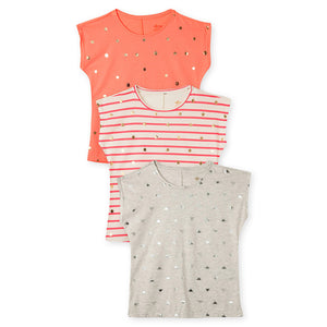 Girls Trendy Tee Shirt Blouse 3 Pack