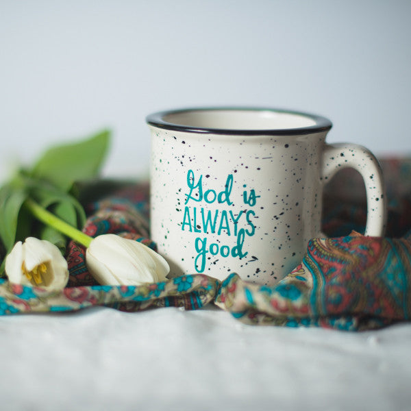 God is Always Good Campfire Mug