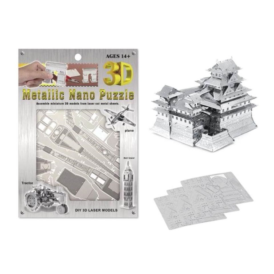 3d metal puzzle with packaging