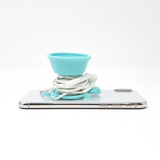 TURTLY - Multi-function Headphone Wrap, Phone Grip & Stand