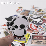 SWANK - 50 Pcs Mixed Funk Sticker Decals