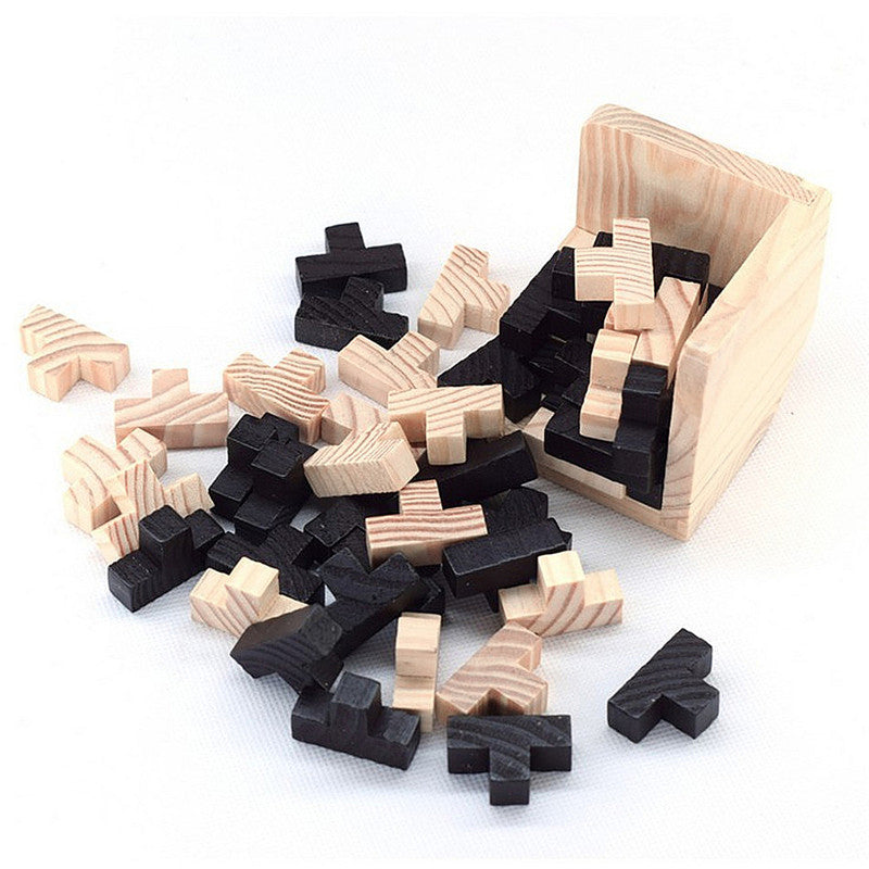 LUBAN - 3D Wooden Interlocking Cube Puzzle