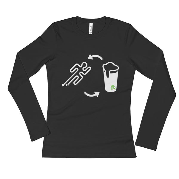 Women's Run, Beer, Repeat Long Sleeve T-Shirt