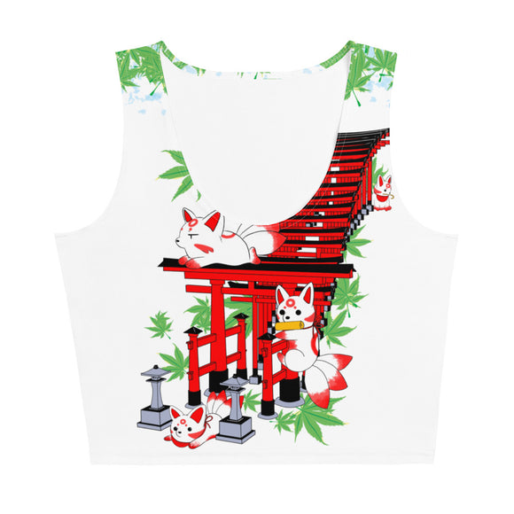 Chibi Inari Temple Crop Top