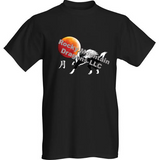 Short Sleeve T-Shirt Red Moon Wolf
