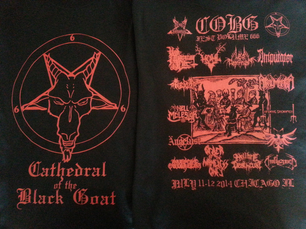 Cathedral of the Black Goat Fest 666 T- (ONLY size SMALL!!)