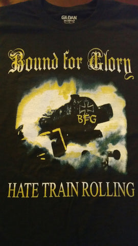 "BOUND FOR GLORY Official ""Hate Train Rolling"" T-Shirt"