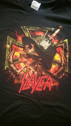 SLAYER Iron Cross Double Sided T-Shirt (SIZE 2XL)