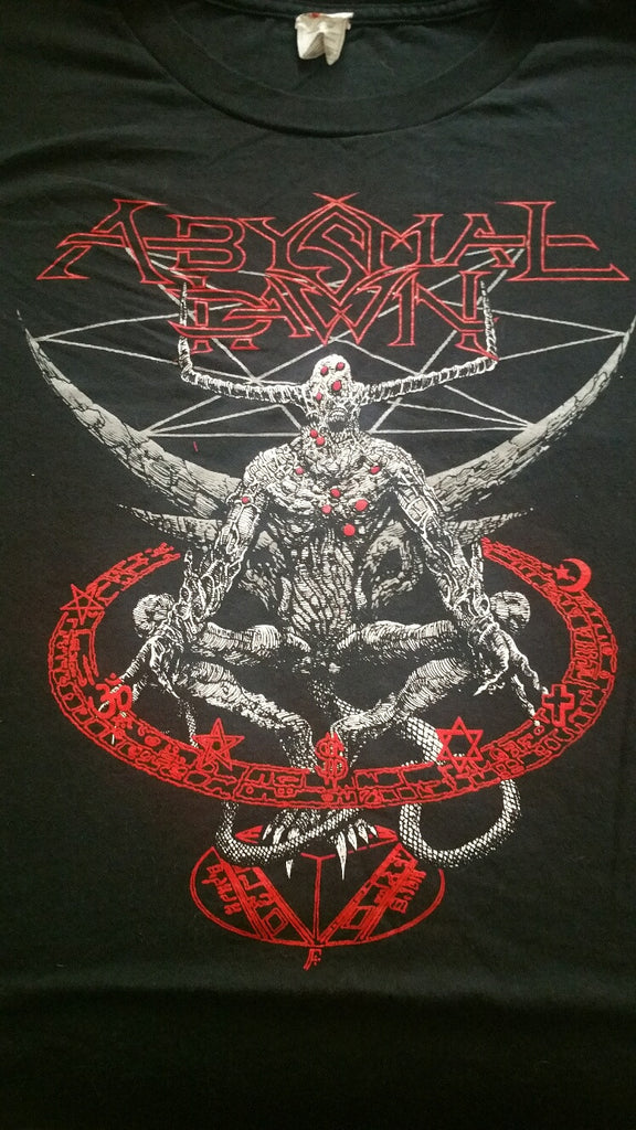 "ABYSMAL DAWN ""Indoctrination Your God"" T-Shirt (SIZE 2XL)"