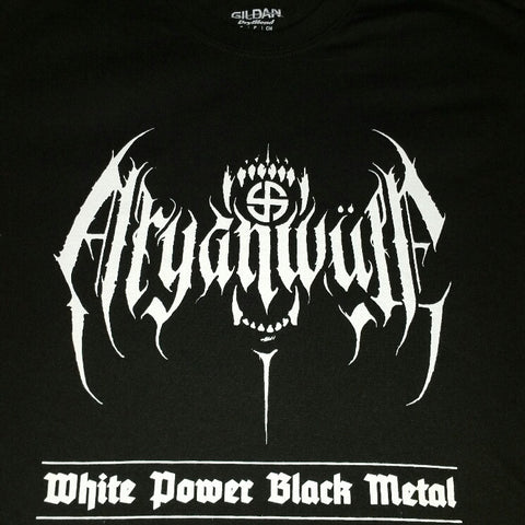 "ARYANWÜLF ""White Power Black Metal"" Official T-Shirt"