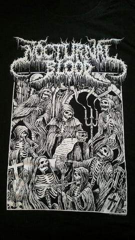 NOCTURNAL BLOOD Skeletons T-Shirt (SIZE 3XL)