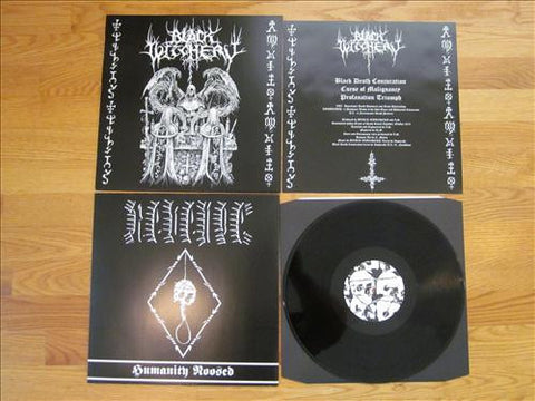 "BLACK WITCHERY / REVENGE ""Holocaustic Death March to Humanity's Doom"" Split 12"" MLP"