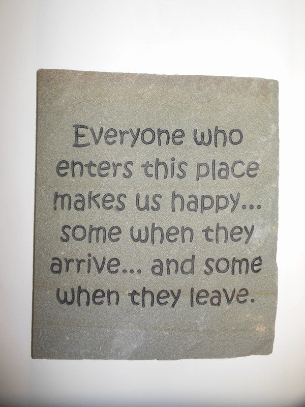"Garden Decoration Engraved Stepping Stone Inspirational Everyone Who Enters 12"" x 10"""