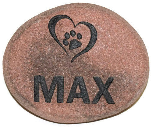 "Personalized Pet Memorial Headstone Grave Marker River Rock Garden Stepping Stone HPN 7"" x 7"""