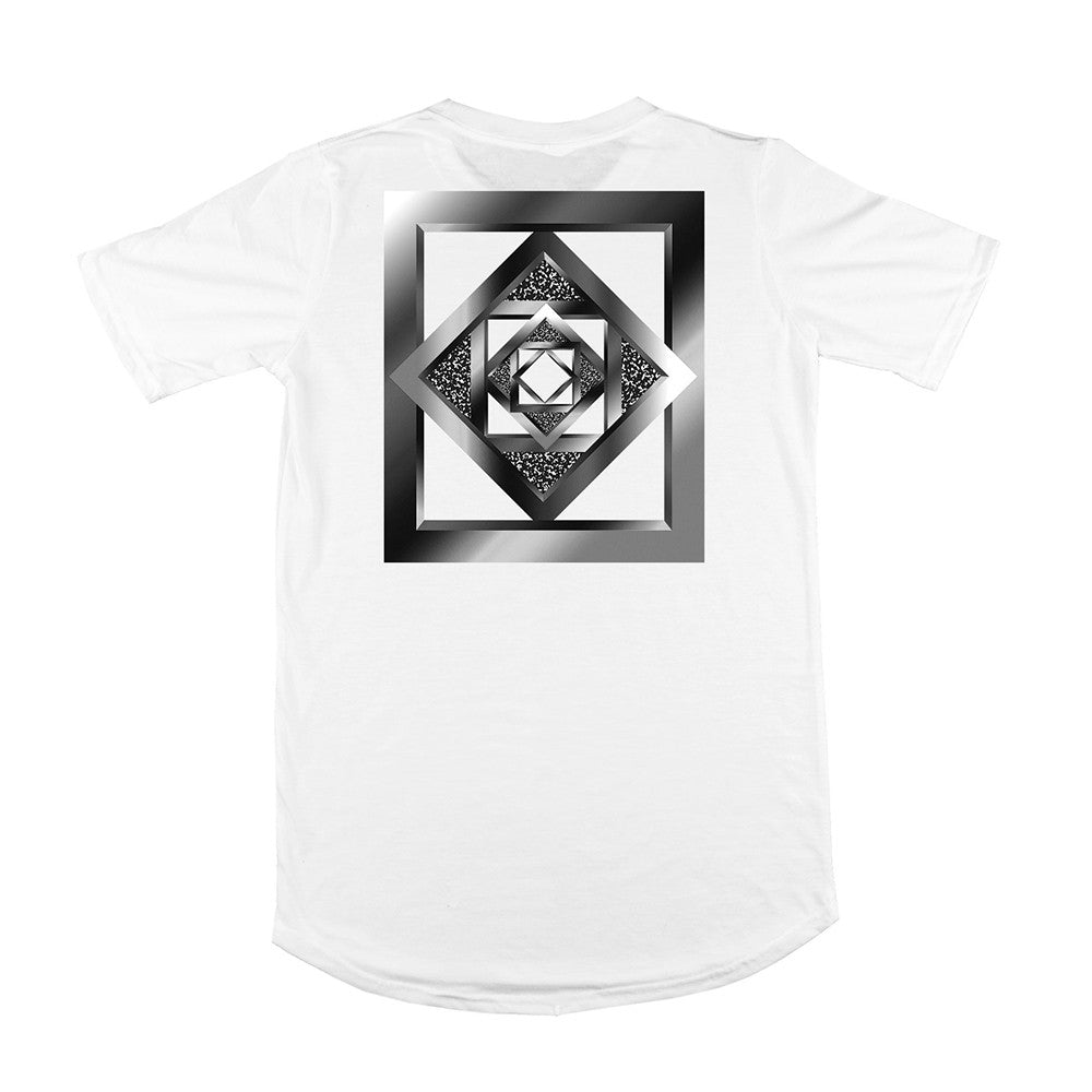 Logo Scoop Tee - White