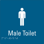 Male Toilet Blue