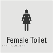 Female Toilet Silver
