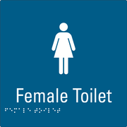 Female Toilet Blue