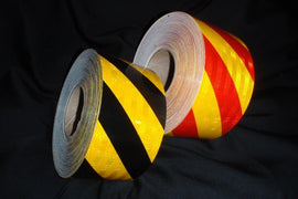 Class 1 Micro Prismatic Reflective Chevron Tape (per roll)