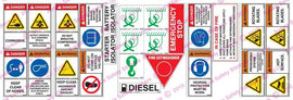 LARGE DIESEL COMPRESSOR SAFETY STICKER KIT