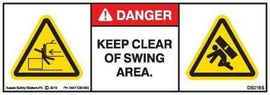KEEP CLEAR SWING AREA (Horizontal)