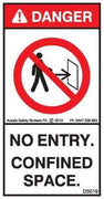 NO ENTRY CONFINED SPACE (Vertical)