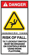 CRUSH RISK-TILT LOCKOUT MUST BE ENGAGED (Vertical)